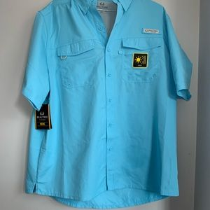 Men's Realtree Fishing shirt — Blue — With Tags